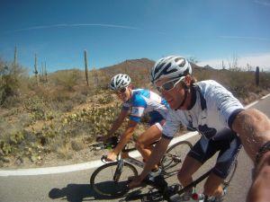 Heather and Trevor Wurtele ride in Tucson
