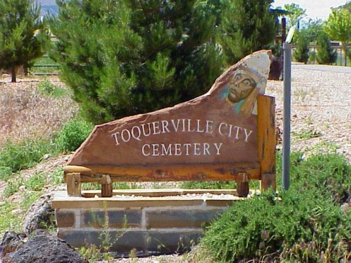 Toquerville Cemetery Sign.